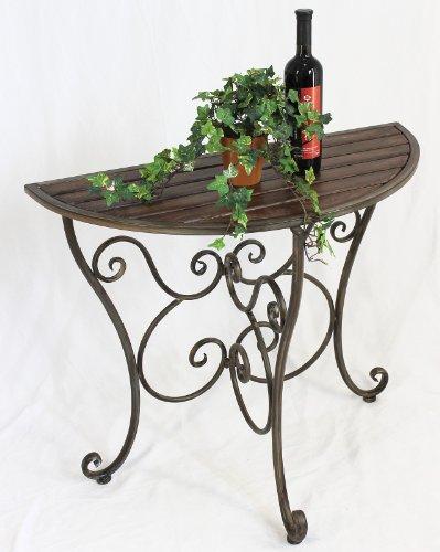 Tisch Wandtisch Forest 94048 Beistelltisch aus Metall 86cm Halbrund Gartentisch