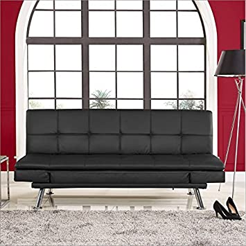 Serta Dream Convertibles Niles Sofa in Black
