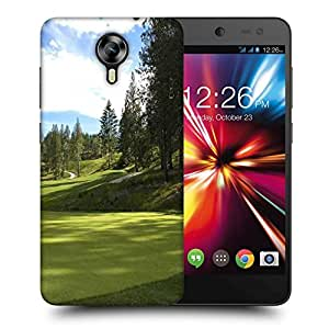 Snoogg Green Park For Golf Printed Protective Phone Back Case Cover For Micromax Canvas Nitro 4G
