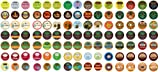 Crazy Cups Coffee and Tea Sampler, Single-cup pack sampler for Keurig K-Cup Brewers, 105-Count