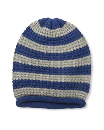 Portolano Women's Striped Knit Hat, Cadet Blue/Moon