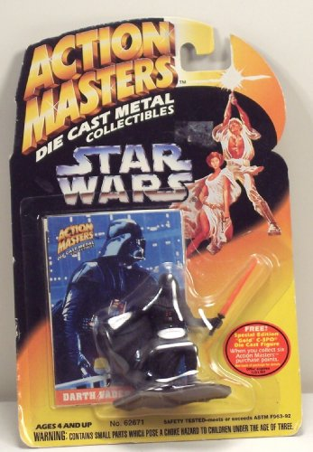 Action Masters Die Cast Collectibles Star Wars Darth Vader Figure - 1
