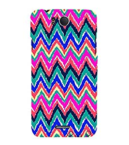 Zig Zag Pattern 3D Hard Polycarbonate Designer Back Case Cover for InFocus M530