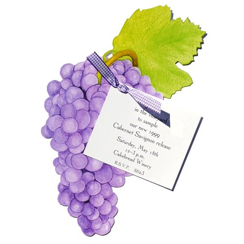 Grapes Die-Cut Card With Envelope, Pack Of 10 front-944467