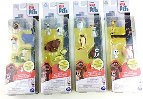 The Secret Life of Pets Bundle of 16 Mini Pets Mini Figurines including 4 EXCLUSIVE PETS