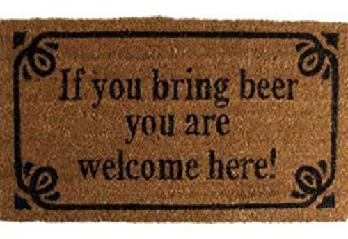 Birra - If You Bring Beer You Are Welcome Here! Retro Style Zerbino (70 x 40cm)