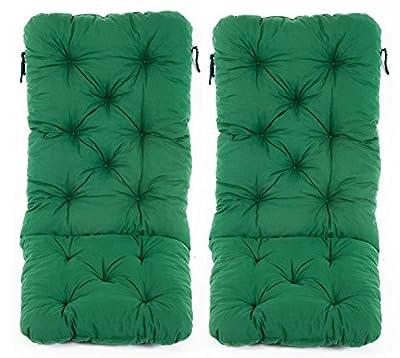 Ambientehome 2er Set Hochlehnerkissen Polsterkissen Sitzauflage Gartenstuhlauflage grün von Ambientehome auf Gartenmöbel von Du und Dein Garten