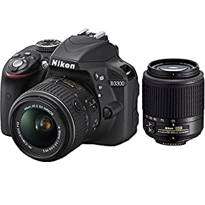 Nikon D3300 24.2 MP CMOS Digital SLR with AF-S DX NIKKOR 18-55mm f/3.5-5.6G VR II Zoom Lens and Nikon 55-200mm f4-5.6G ED AF-S DX Nikkor Zoom Lens (Certified Refurbished)