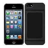 Bluevision iPhone 5s/5用ケース OsaifuSlim for iPhone 5s/5 非接触ICカード収納可能ハードケース - ブラック BV-OSIP5-BK
