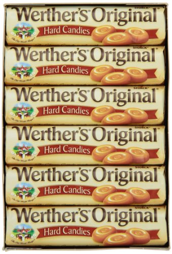 Werther's Original Hard Candies, 1.8-Ounce Rolls (Pack of 24)