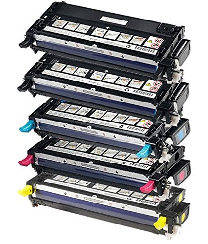 Dell Laser 3110Cn Combo Set Of 5 Remanufactured High Capacity And Good Quality Laser Toner Cartridges (2 Black, 1 Cyan, 1 Magenta, 1 Yellow) Replaces Dell 310-8092, 310-8094, 310-8098, 310-8096