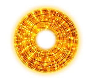 Amazon.com : YELLOW LED Rope Lights with attached controller - 110 Volt 7/16 Inch Width - 52.5 ...