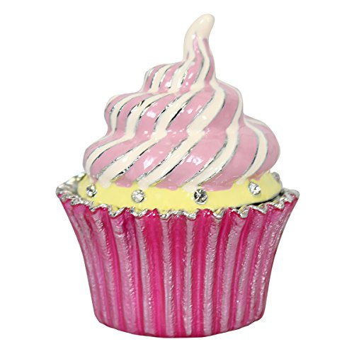 Pink Cupcake Trinket Box Bejeweled