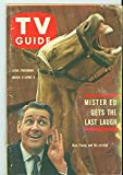 1962 TV Guide Mar 31 Mr Ed (First Cover) - Colorado Edition NO MAILING LABEL Very Good (3 out of 10) Well Used by Mickeys Pubs