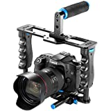 NeewerPro(Pro Version of NeewerProduct)Aluminum Camera Video Cage Kit with (1)Video Cage(1)Top Handle Grip(2)15mm Rod for Canon 5D mark II/ 5D mark III/700D 650D 600D 550D 500D 450D;Nikon D7000 D5200 D5100 D5000 D3300 D3200 D3100 D3000;Pentax K7 K5 K3?Sony A850,A700,A550,A450,A77,Olympus E-P3, E-P5, E-PL3 and Other SLR DSLR Camera Professional Photograph with Universal Hot Shoe with 1/