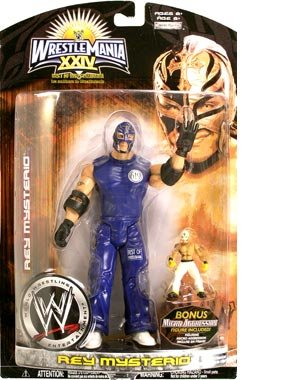 Buy Low Price Jakks Pacific Wrestlemania XXIV: Best Of Wrestlemania Rey Mysterio Action Figure (B0015T3ZHK)