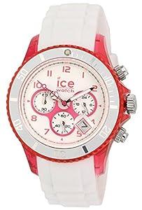 ICE-Watch Chrono Party Unisex Quartz Watch with White Dial Time Teacher Display and White Silicone Bracelet CH.WPK.U.S.13