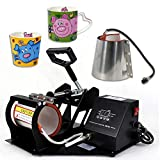 Super Deal Pro 2 in 1 Mug Cup Heat Transfer Sublimation Heat Press Machine W/Two Mug Attachments 11OZ 12OZ (Tamaño: Mug Press)