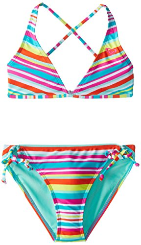 Roxy Big Girls' Surf's Up Striped Halter Set roxy halter onepiece j pss0
