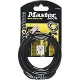 Master Lock Antivol à combinaison avec câble auto-enroulant Noir 1200 x 8 mm