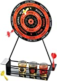 Game Night Crystal Clear Shot Glass Darts Bar Game Set