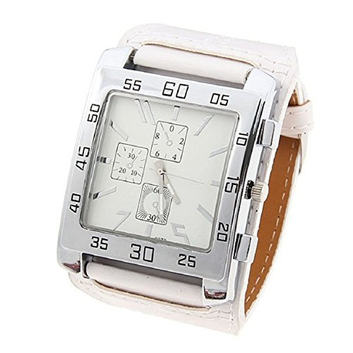 Doinshop Fashion Design Luxury Big Dial Sports Watches Men Quartz Watch Leather Strap