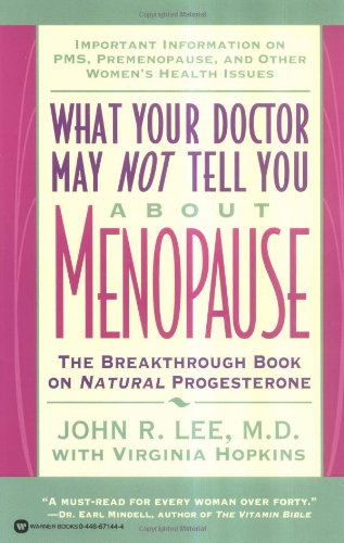 What Your Doctor May Not Tell You About(Tm): Menopause: The Breakthrough Book On Natural Progesterone