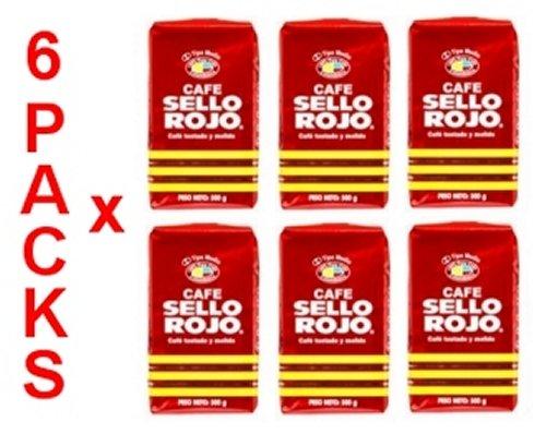 Cafe Sello Rojo 6 PACK Espresso Ground Coffee 6 x 500g