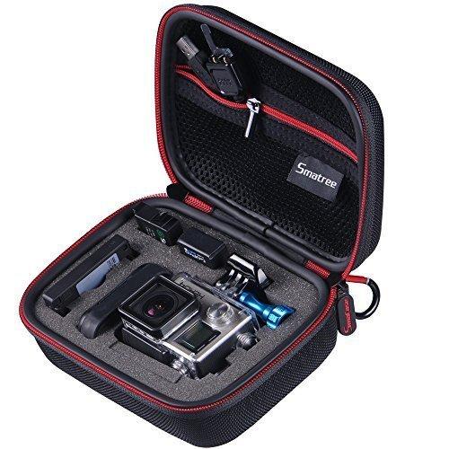 """Smatree® Nero 6.8"""" x2.7"""" x5"""" trasporto e Custodia da viaggio per uno GoPro Hero4 Hero3+ Hero3 Hero2 HD Fotocamera& Accessori"""
