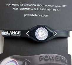 Power Balance Wristband Silicone Bracelet Medium Black Wwhite Letters