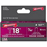 Arrow Fastener 187 3 Pack 7/16in. T18 Genuine Low Voltage Staples 3,000 Pieces