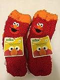 Childrens Boys/Girls 6-Pack Softee Fuzzy Socks Licensed by Disney, Sesame Street, Nickelodeon & more characters (2T-4T, Elmo 15)