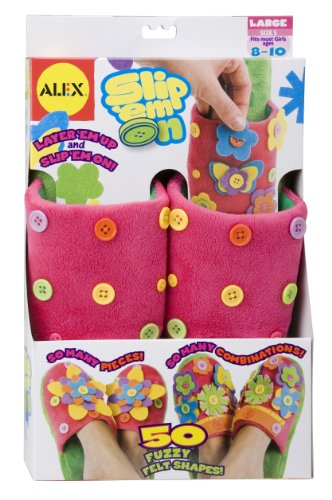 ALEX Toys Spa Slip 'em On Slippers, Size 5 (Fits Most Kids Ages 8-10)