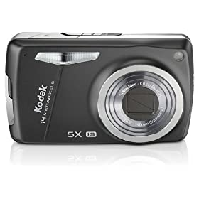 Kodak EasyShare M575 14MP Digital Camera with 5x Wide Angle Optical Zoom and 3.0 Inch LCD (Midnight Black)