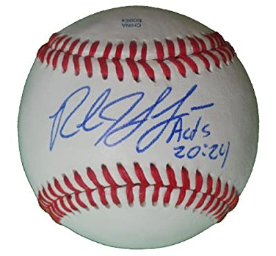 Rob Johnson Autographed / Signed ROLB Baseball, St. Louis Cardinals, Seattle Mariners, Proof Photo