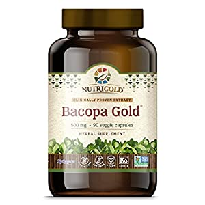 NutriGold Bacopa GOLD - 500 mg, 90 Vegetarian Capsules