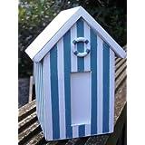 Beach Hut Money Box, Blue and white stripes colourby Noonoo-art