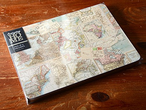 Creative Tops Everyday Home Atlas Map Cork Backed