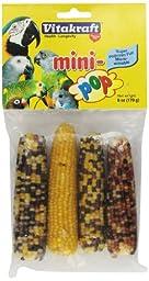 Vitakraft Mini Pop - Microwavable Mini Corn Cob Treats for All Pet Birds, 6.0 Ounce Bag
