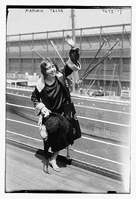 Photo: Marion Telva,women,docks,portrait photographs,Bain News Service