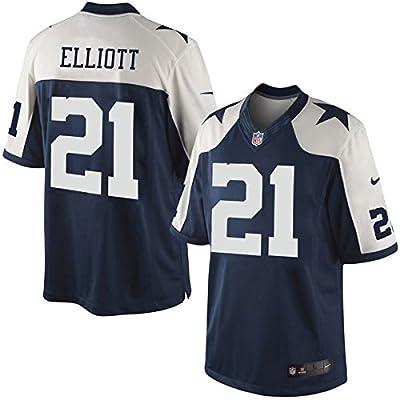 Ezekiel Elliott Dallas Cowboys Nike Throw Back Game Jersey - Navy/White