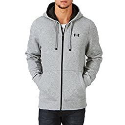 Under Armour Men\'s Ua Storm Cotton Fz Zip Hoody - True Gray Heather / Black / Black