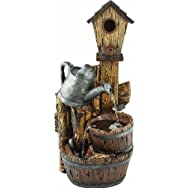 dib Global Sourcing WXF01970 Polyresin Bird House Fountain