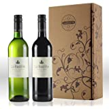 La Bastille French red and white twin pack gift set