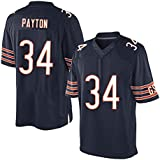 Mens Chicago Bears Walter Payton #34 Mitchell & Ness Navy Vintage Jersey
