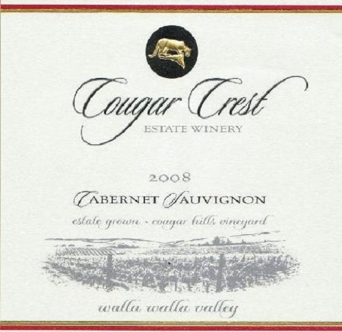 2008 Cougar Crest Cabernet Sauvignon Walla Walla Valley Cougar Hills Vineyard Estate 750 Ml