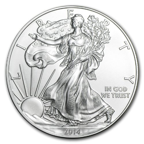 2014 1 Troy Oz .999 Fine Silver Eagle $1 Coins Sku29722