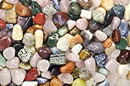Hypnotic Gems Materials: 2 lbs Large Brazilian and African Tumbled Stone Mix - Polished Natural Stones with a Beautiful Variety of Rock Types in Every Bag! Wicca, Reiki, & Energy Crystal Healing