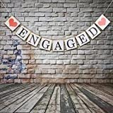 Alcoa Prime ENGAGED Heart Bunting Garland Wedding Party Engagement Banner Signs