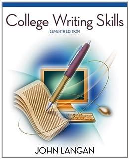 College writing services john langan free download